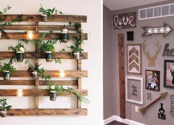 Дерев'яний декор на стіни: 16 ідей