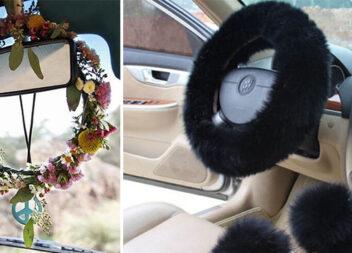 16 ідей для декору салону авто