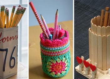 Креативні підставки для ручок та олівців: 16 ідей