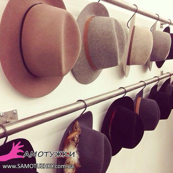 16 ідей для зберігання кепок та капелюхів – Самотужки 64557341eb636