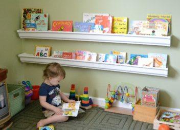 Зберігання дитячих книжок: 21 фото-ідея