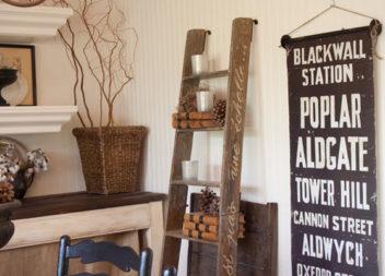 28 способів перетворити драбину на меблі для саду та дому