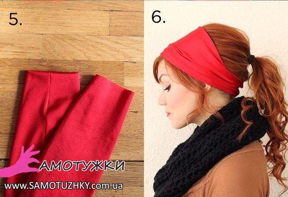 Как сшить ободок на голову из ткани своими руками 92