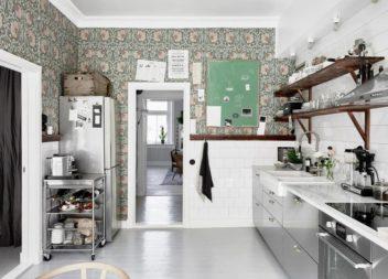 Шпалери для кухні: 20 ідей