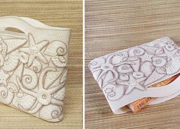 Декоруємо пляжну сумку в'язаними черепашками і морськими зірками: майстер-клас