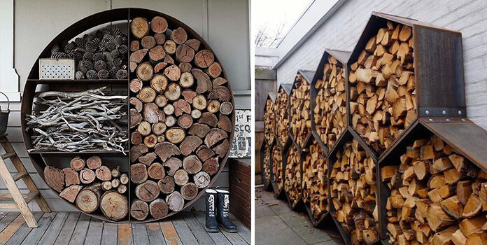 17 ідей для зберігання дров
