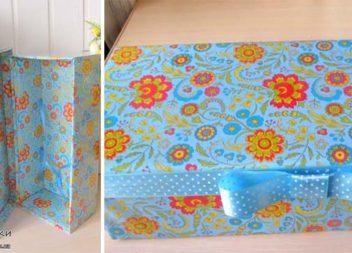 Подарункова коробка своїми руками: майстер-клас