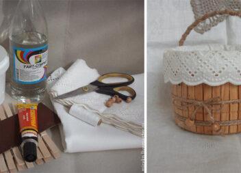Перетворюємо пластикове відерце на кошик для дрібничок: майстер-клас