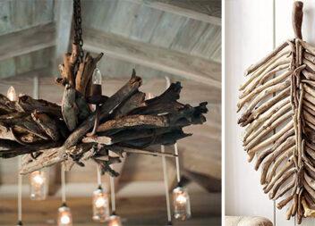 Оригінальні дерев'яні елементи в інтер'єрі