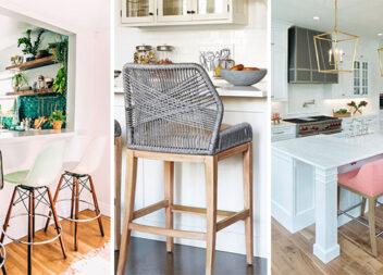 Високі стільці на кухні: 16 стильних прикладів