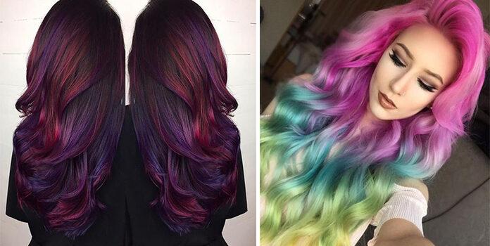 Кольорове волосся: 25 зачісок для перукаря