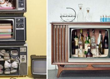 Перетворюємо старий телевізор на щось нове: 11 ідей