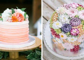 Неймовірні квіткові торти: 21 красивий приклад