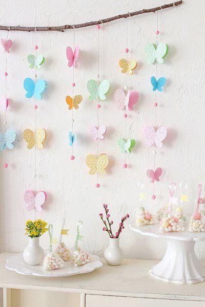 Оформление стены на день рождения