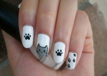 21 ідея для манікюру з котиками