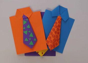 Листівка до Дня Батька у техніці орігамі: відео-урок