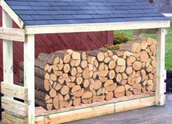 17 ідей для зберігання дров на дачі
