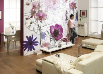 Шпалери з квітами в інтер'єрі: 17 стильних прикладів