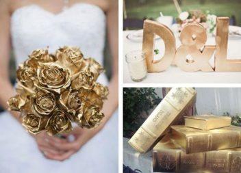 Використовуємо золоту фарбу для декорування: 25 ідей
