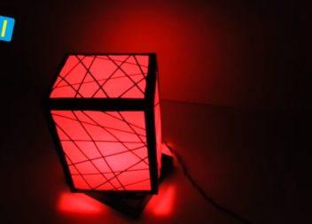 Оригінальна лампа своїми руками: відео майстер-клас