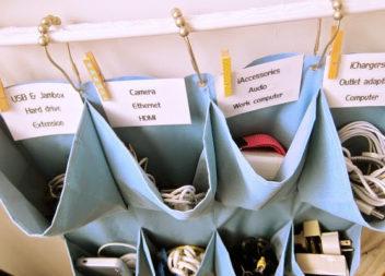 Настінний органайзер з кишенями: 22 ідеї
