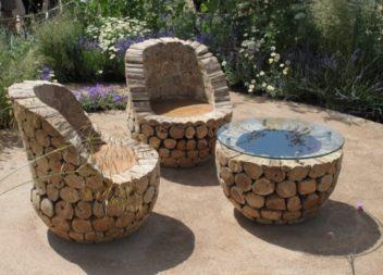 Столики для дачі та саду: 17 ідей