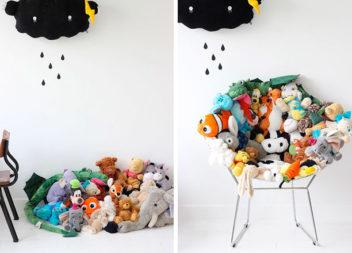 22 способи зберігати м'які іграшки