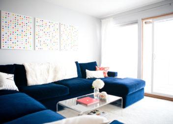 Вельветовий диван: 22 стильних приклади