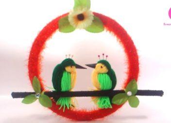 Робимо декоративний віночок з пташками: відео-урок