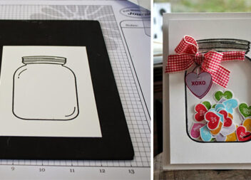 Листівка у вигляді баночки із цукерками: фото-урок