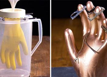 Підставка для біжутерії у вигляді людської руки: фото урок