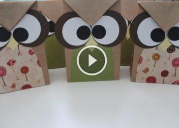 Подарунковий пакетик-сова своїми руками: майстер-клас