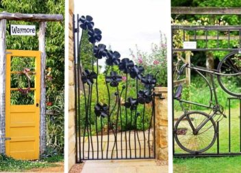 20 дивовижних ідей для хвіртки та брами на подвір'я та у сад