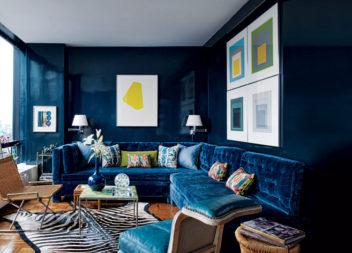 Синій колір у інтер'єрі: 14 ідей