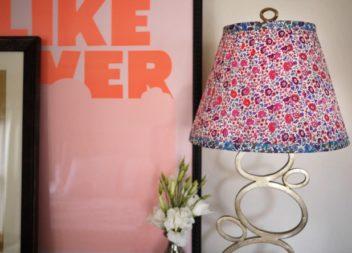 Абажур із квіткової тканини: фото-урок