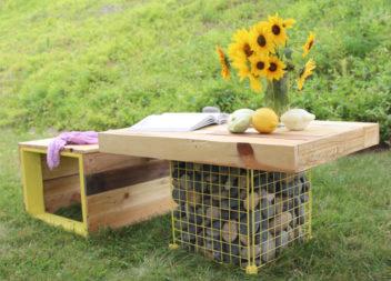 10 ідей оформлення вашого саду з допомогою габіонів