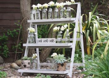 Драбина для декору саду: 16 ідей