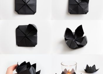 Робимо чорний лотос із паперу технікою орігамі: майстер-клас