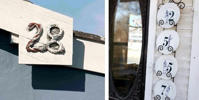 Оригінальні способи оформити номер будинку: 23 ідеї