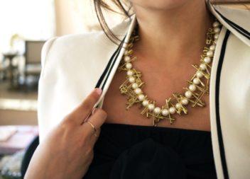 Намисто із перлин та шпильок: фото-урок