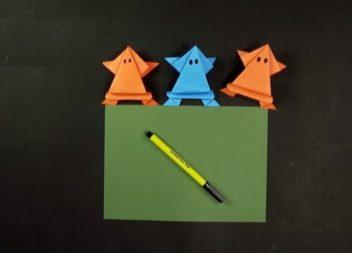 Паперові жабки своїми руками: відео-урок