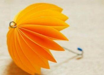 Робимо паперові парасольки для декору: відео майстер-клас