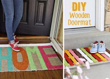 14 ідей креативних килимків біля вхідних дверей