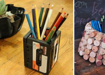 Креативні ідеї органайзерів для олівців (14 фото)