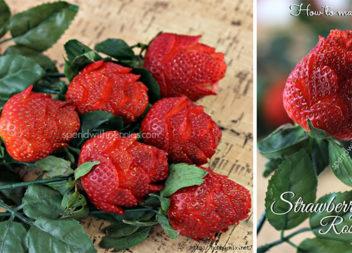 Троянди із полуниці: робимо самостійно