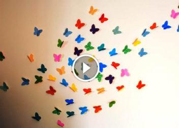 Паперові метелики. Відео-урок