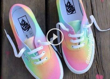 Розмальовуємо взуття веселковими кольорами: відео-урок