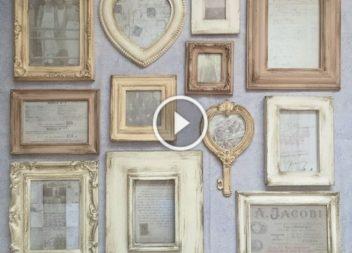 Вінтажні рамки для фотографій своїми руками: відео