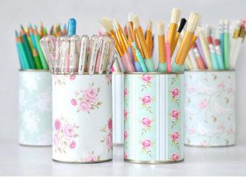 Органайзер для олівців зі сміття