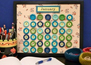 Оригінальний календар своїми руками